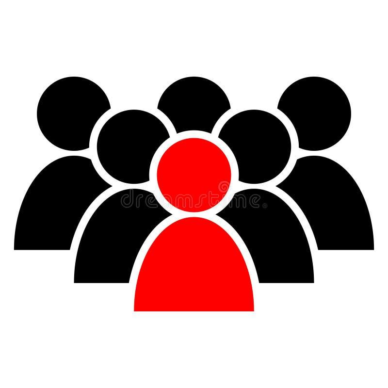 人们导航象 人标志例证 商人小组商标 多名用户现出轮廓象 向量例证