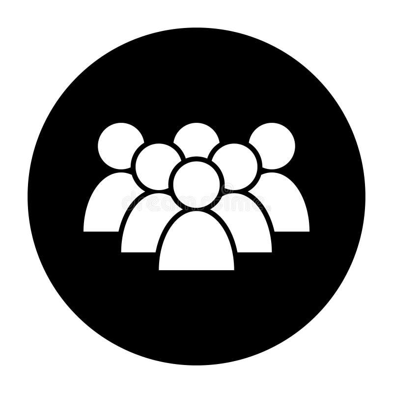 人们导航象 人标志例证 商人小组商标 多名用户现出轮廓象 库存例证