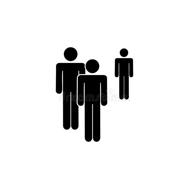 人们,例外,组图标 一群人的元素象 优质质量图形设计象 签署符号 库存例证