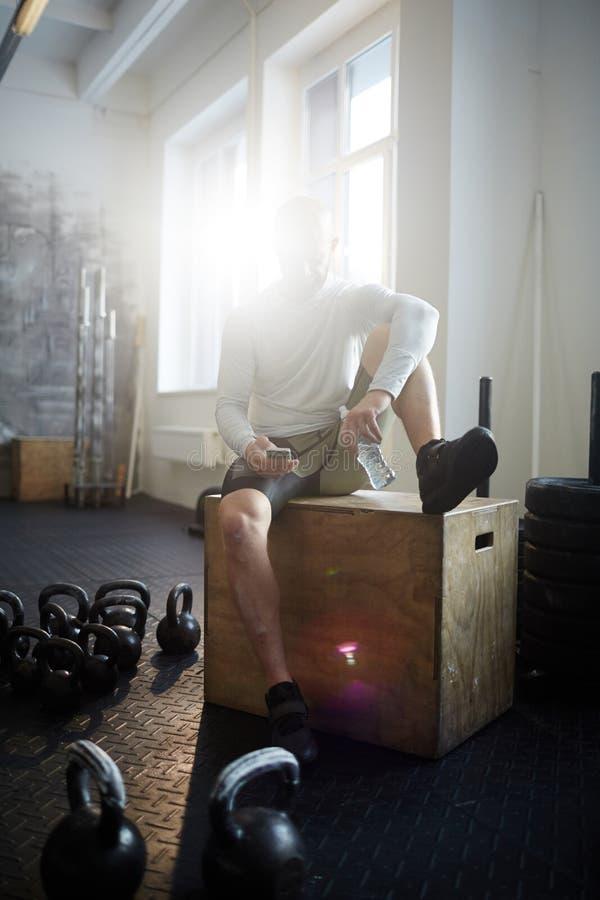 人休息的锻炼 免版税库存图片