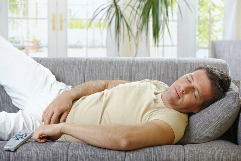 人休眠沙发 库存照片