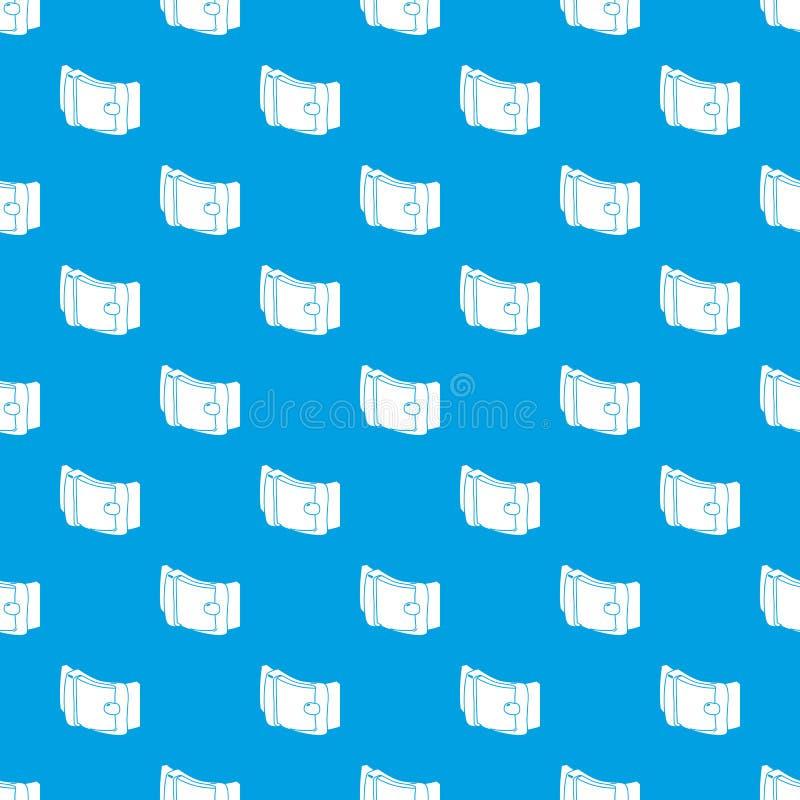 人传送带样式传染媒介无缝的蓝色 库存例证