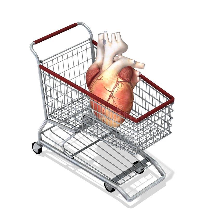 人体器官待售 库存例证