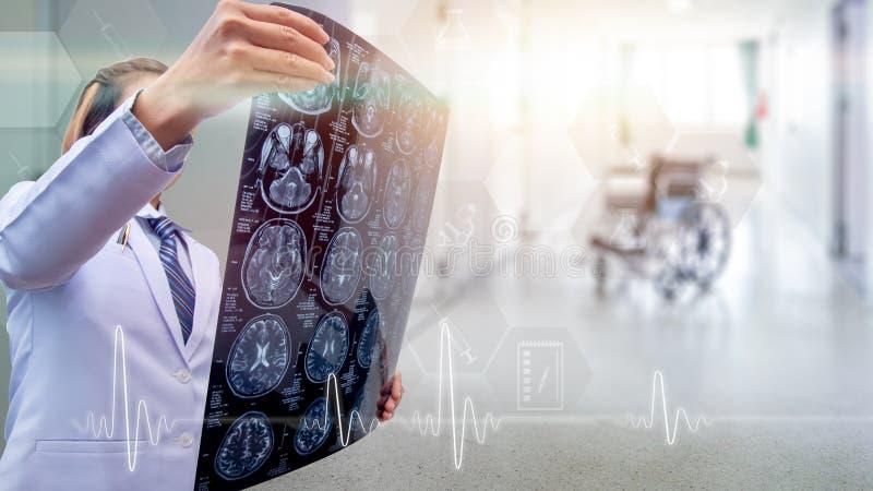 人体,高度质量X-射线图象的上半身人  免版税库存照片