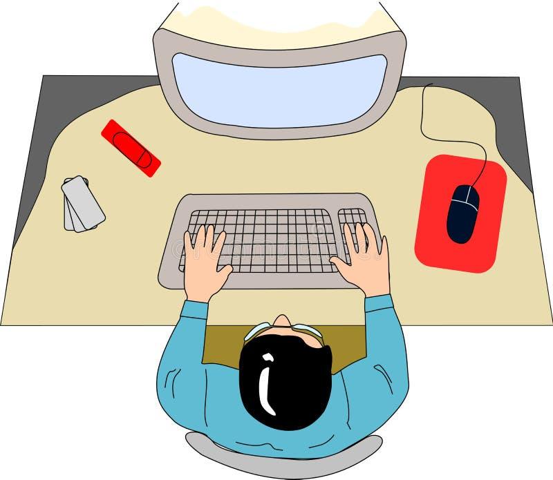 在计算机表 向量例证