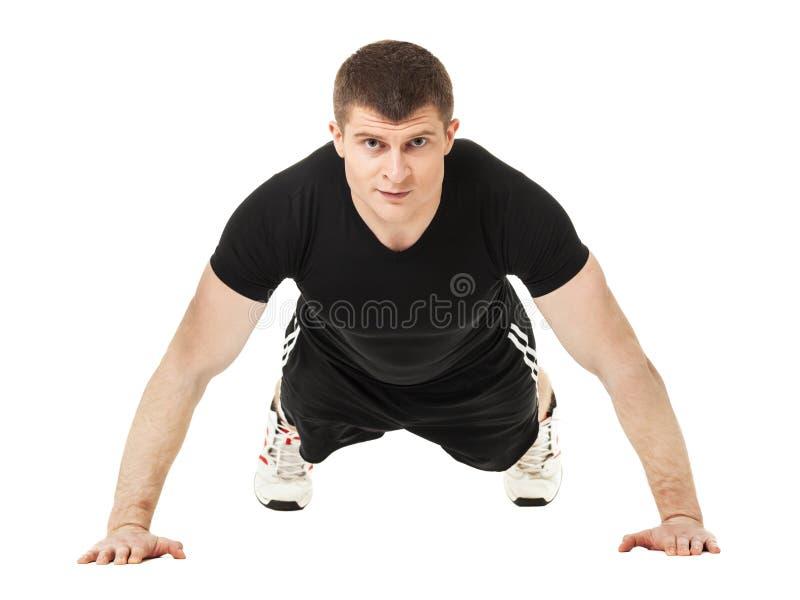 年轻人做增加锻炼 库存图片