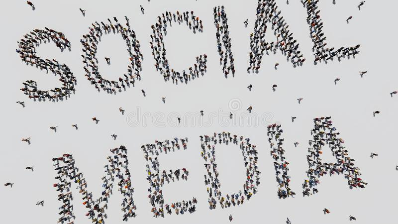 人做的社会媒介 库存照片