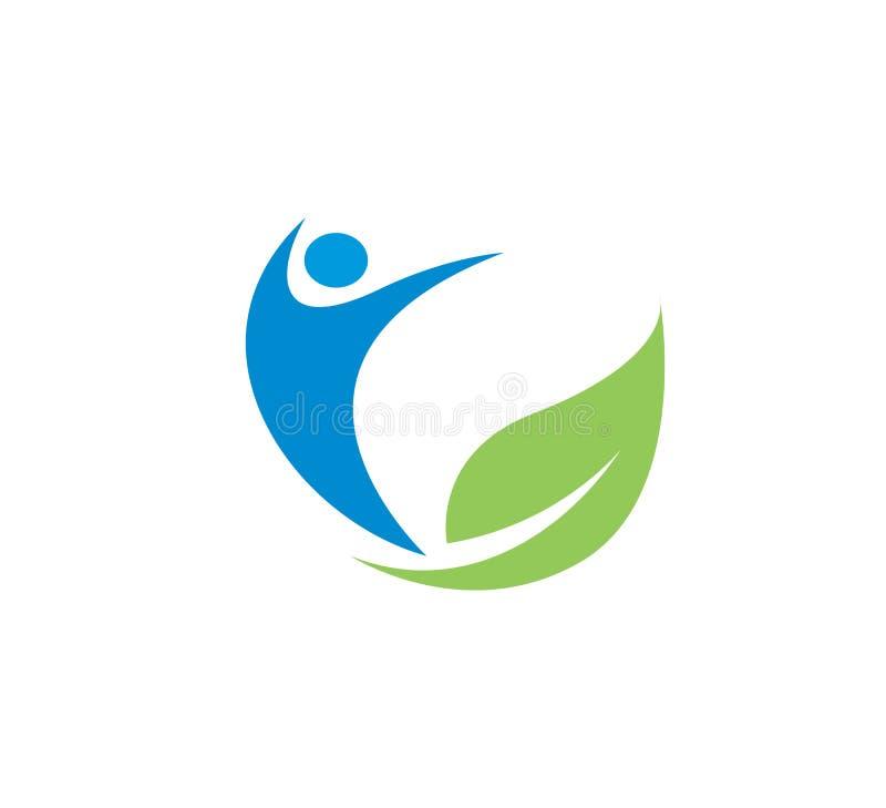 人健康健身温泉素食商标传染媒介例证 向量例证