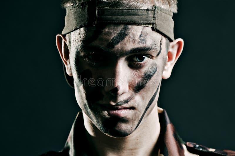 人军事年轻人 免版税库存图片