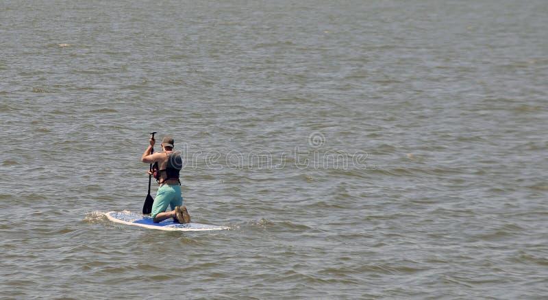 人划船 免版税库存图片