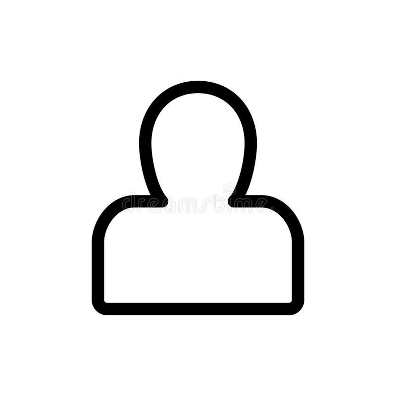 人剪影传染媒介象 黑白用户具体化例证 概述线性象 向量例证