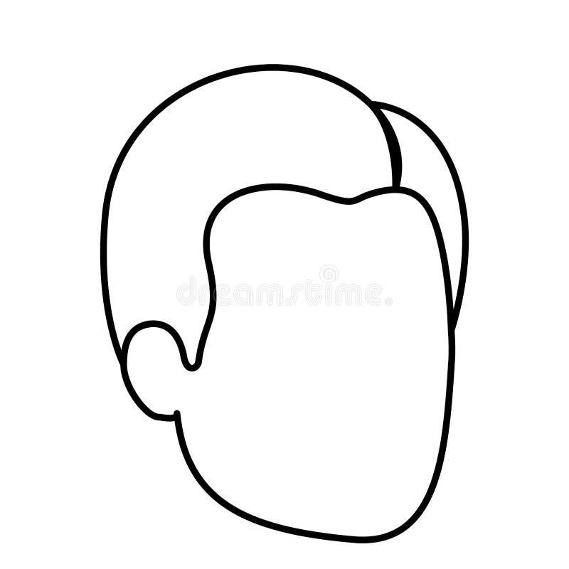 人剪影剪影匿名与发型边分开了 皇族释放例证