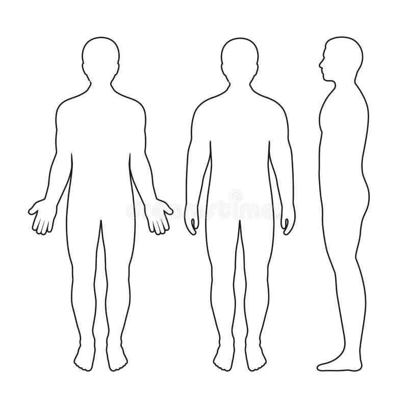 人剪影的例证在白色背景的 库存例证