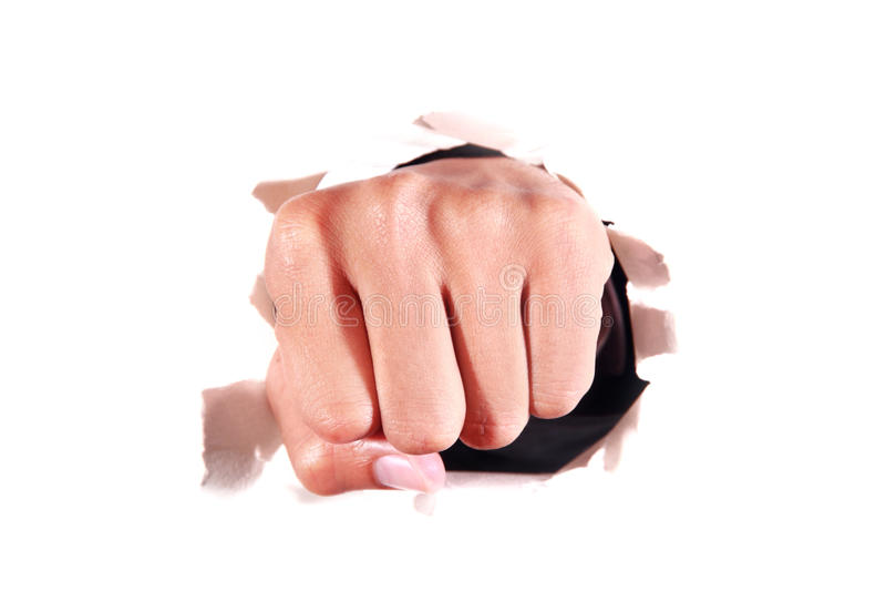 人力拳头 免版税库存照片