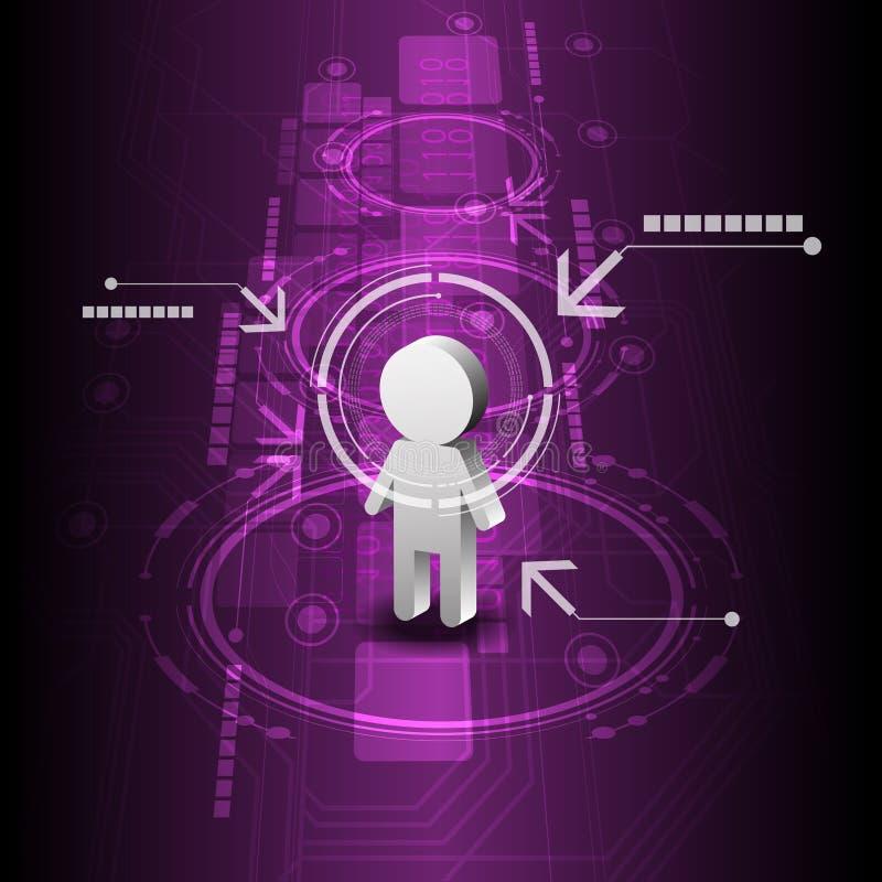 人力数字技术背景 库存例证