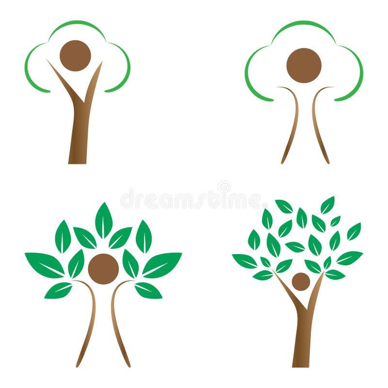 人力结构树 向量例证