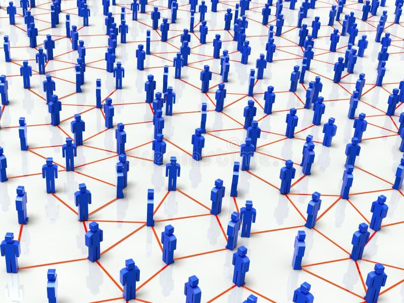 人力网络连接 向量例证