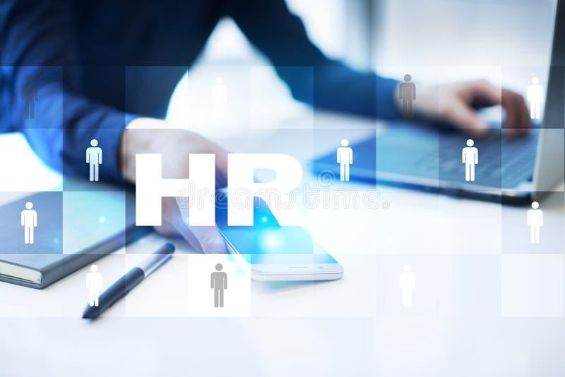 人力调配、HR、补充,领导和teambuilding 企业和技术概念 免版税库存照片