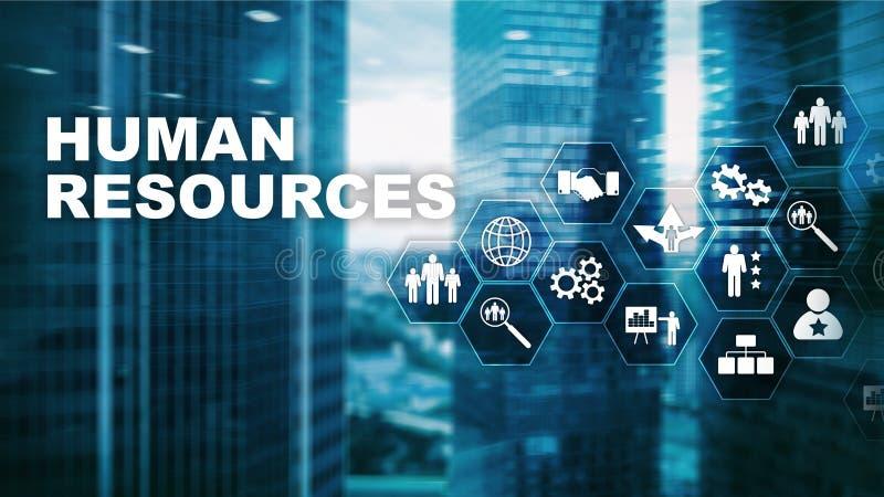 人力资源人力资源管理概念 人力资源水池、顾客关心和雇员 向量例证