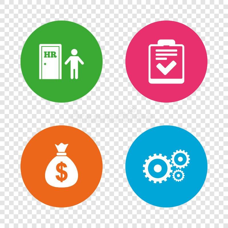 人力资源和事务 清单文件 向量例证