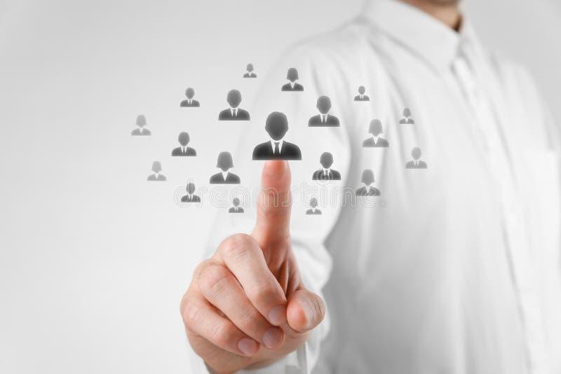 人力资源和客户关系管理 图库摄影