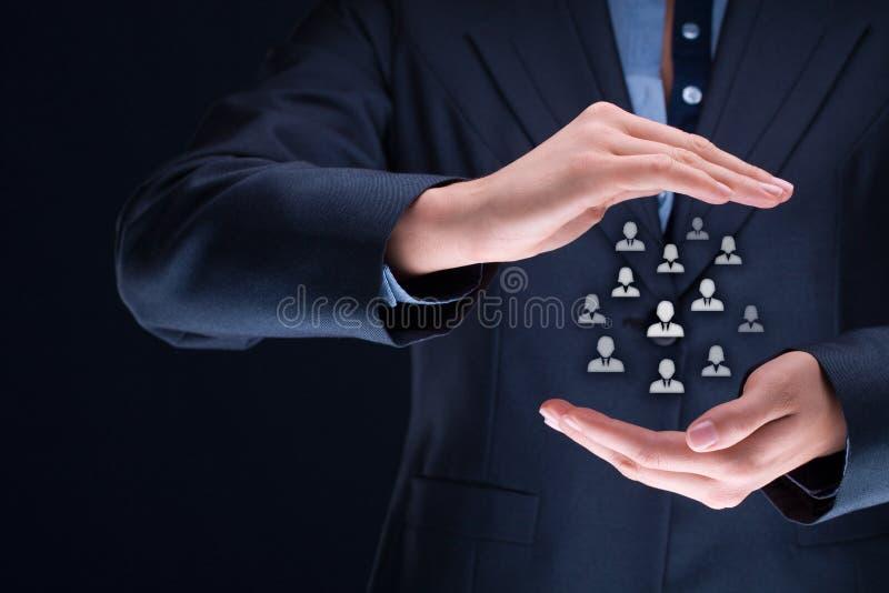 人力资源和顾客关心 免版税库存图片