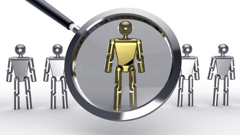 人力资源查寻 向量例证