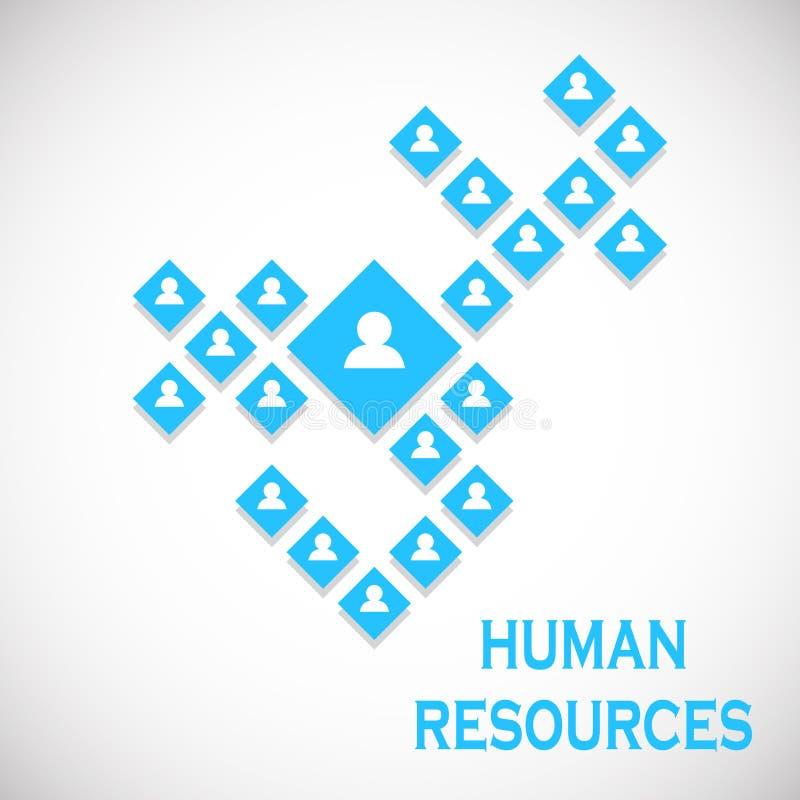 人力资源概念 3d企业照片回报了结构 也corel凹道例证向量 库存例证