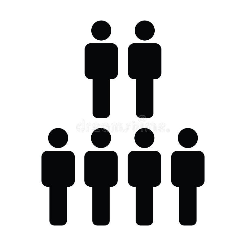 人力资源象传染媒介男性人业务管理队的标志具体化在平的颜色纵的沟纹图表 皇族释放例证