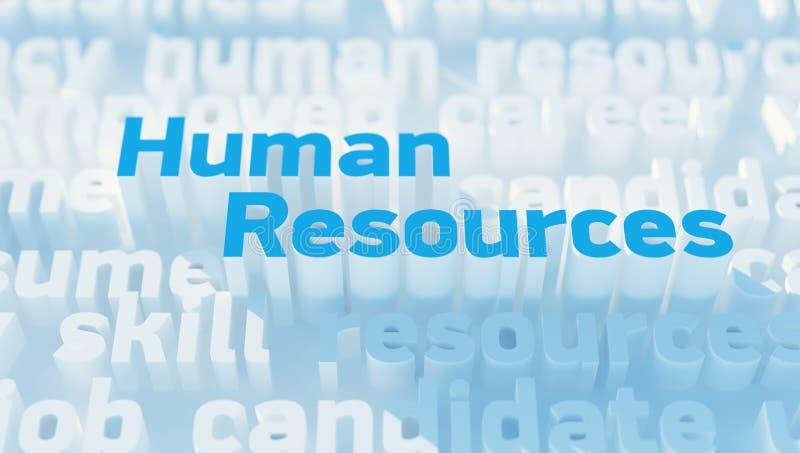 人力资源 库存例证