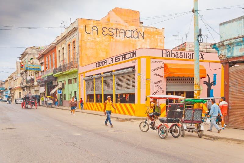 人力车在哈瓦那古巴 免版税图库摄影