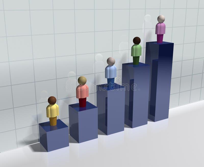 人口统计的图表 向量例证