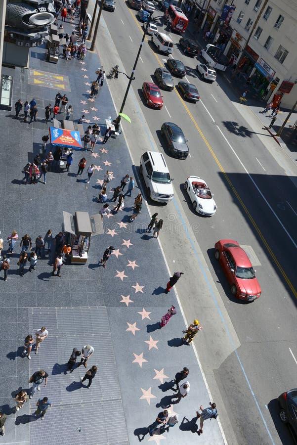 人名望参观步行在好莱坞 库存照片