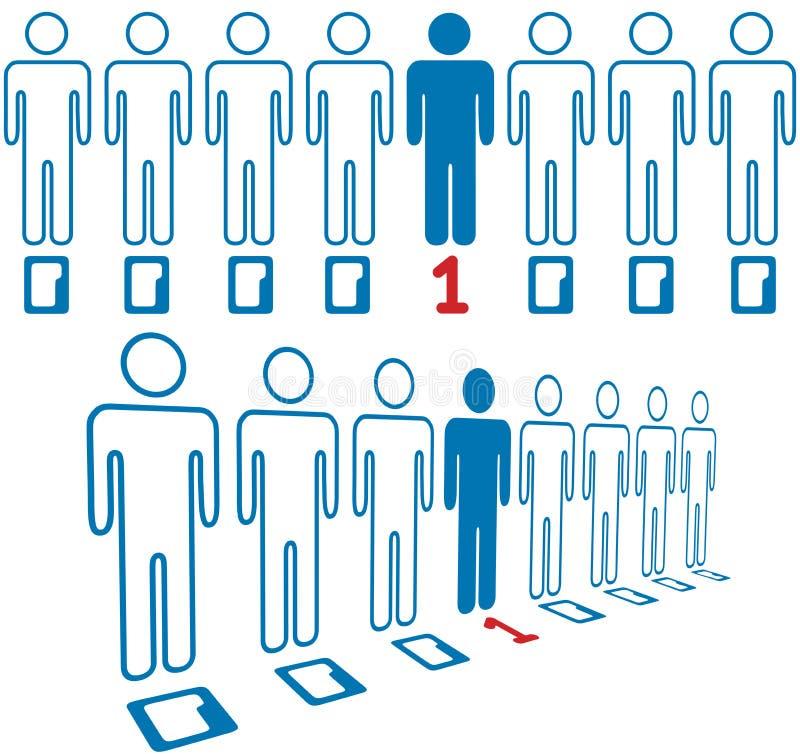 人员突出数字式人员线路  库存例证