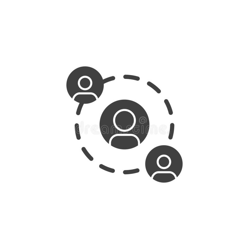 人员网络连接矢量图标 库存图片
