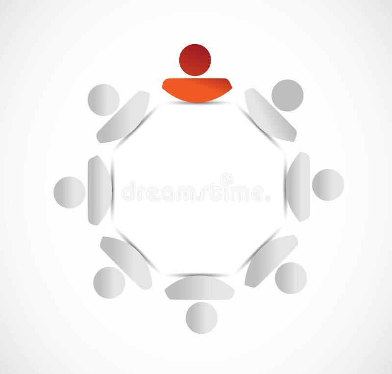 人周期和领导。例证设计 向量例证