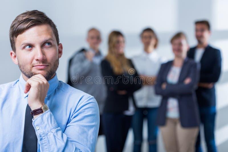 人和事业在公司中 免版税库存照片