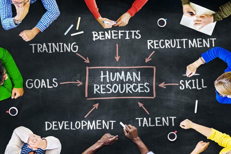 人和人力资源概念 免版税库存图片