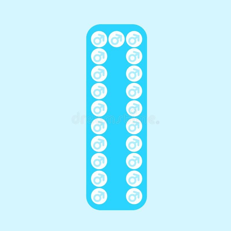 人和男性的避孕药 皇族释放例证