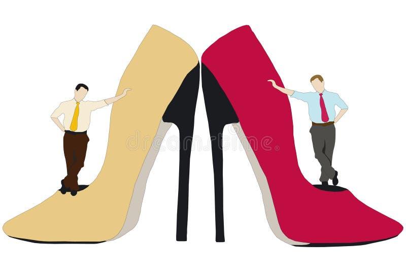 人和诱人的鞋子 皇族释放例证