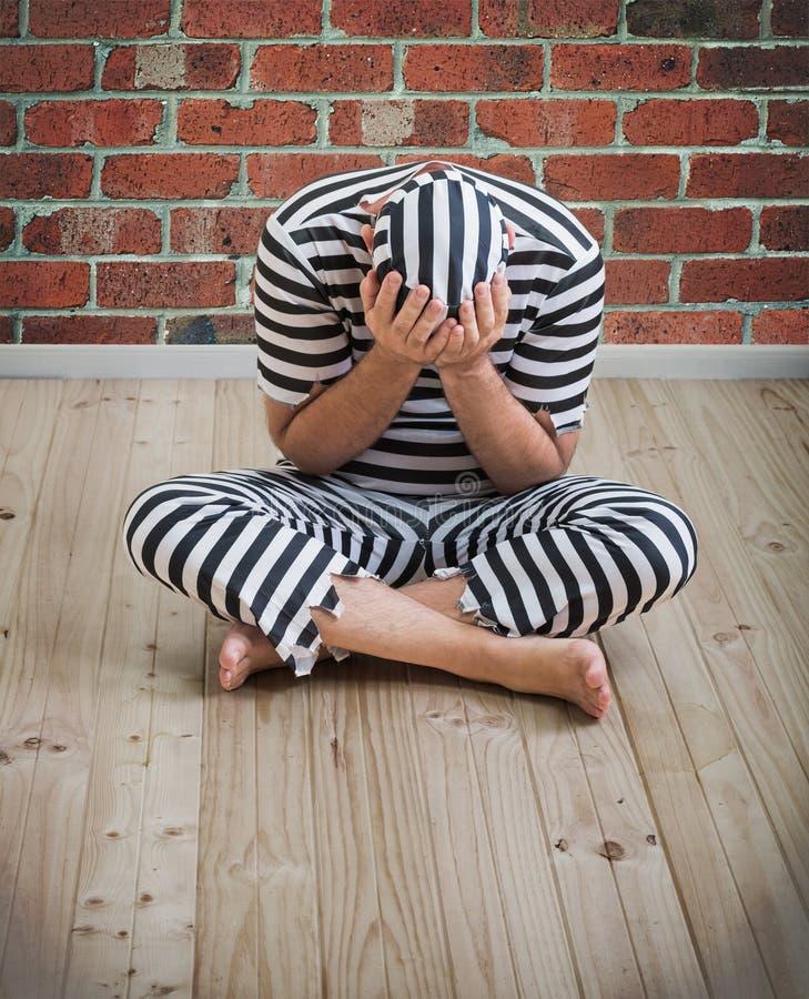 人囚犯 免版税库存图片