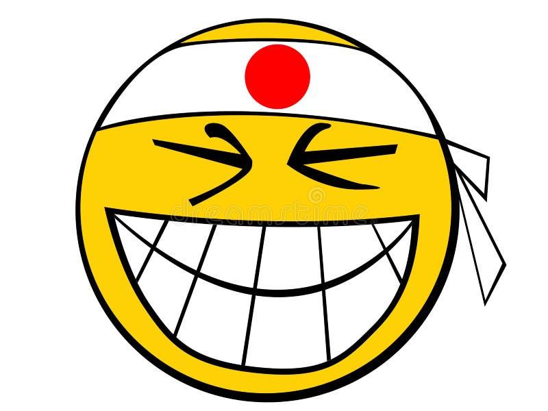 人图标日本面带笑容 皇族释放例证