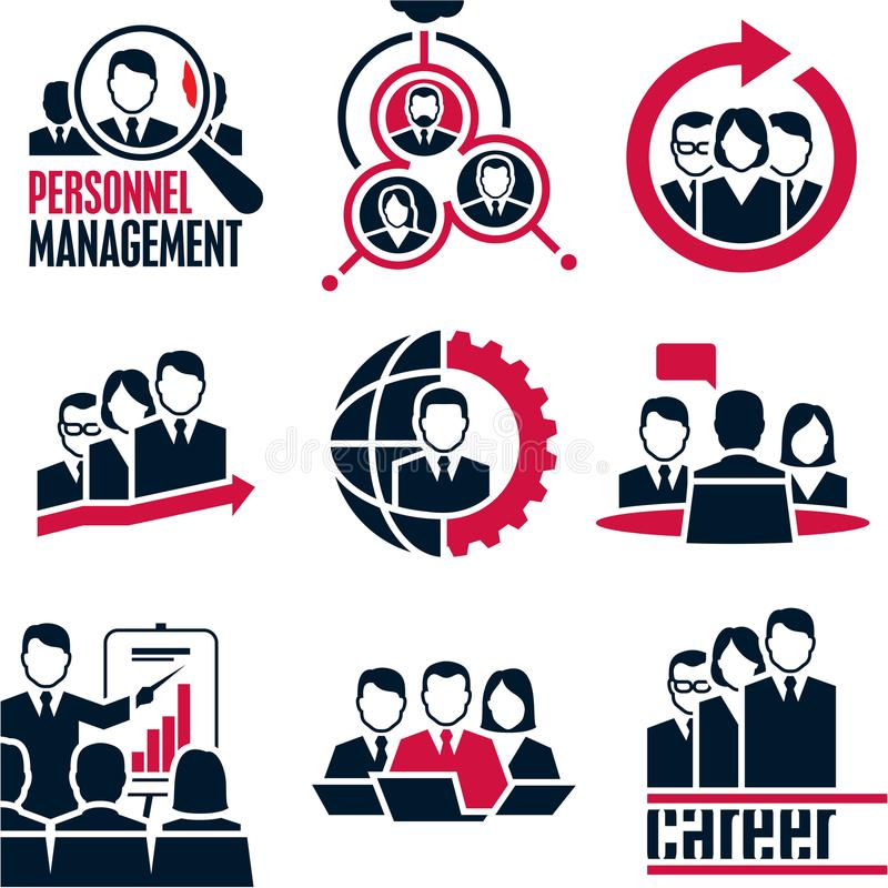 人图标 企业例证JPG人向量 管理 库存例证