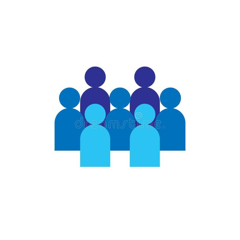 人图标 企业公司的队 社会网络小组商标标志 人群标志 领导或社区conce 向量例证