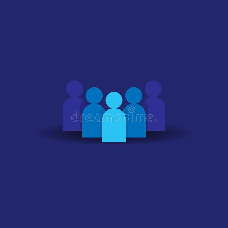 人图标 企业公司的队 社会网络小组商标标志 人群标志 领导或社区conce 皇族释放例证