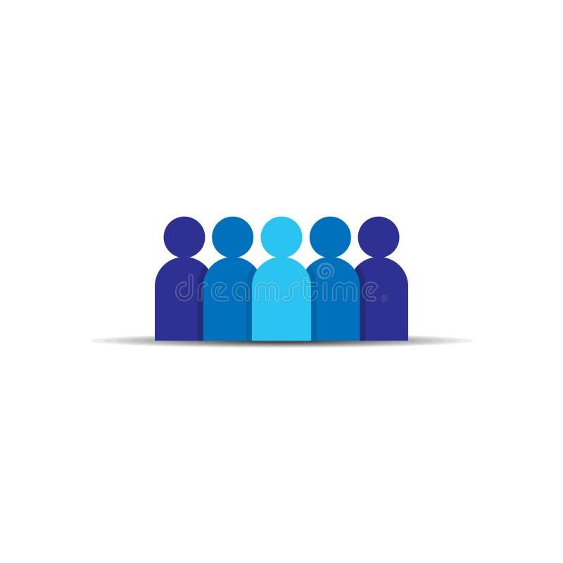 人图标 企业公司的队 社会网络小组商标标志 人群标志 领导或社区conce 库存例证