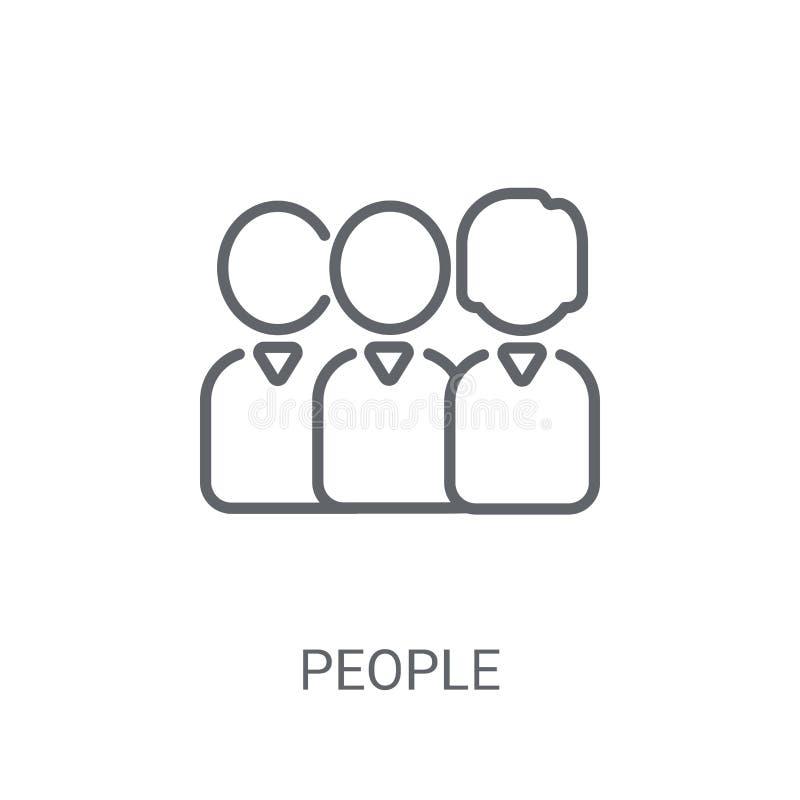 人图标 在白色背景的时髦人商标概念从 库存例证