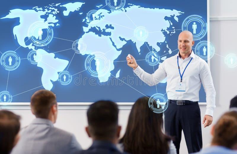 人在国际商业会议 免版税库存图片