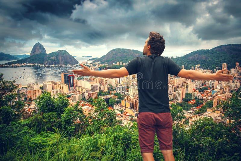 人在里约热内卢 库存图片