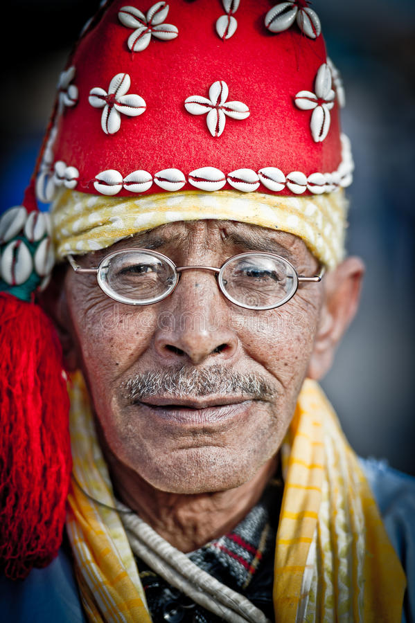 人在马拉喀什广场3 免版税库存照片